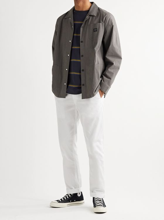 Saturdays NYC Lido Logo-Appliquéd Stretch Cotton-Blend Chore Jacket