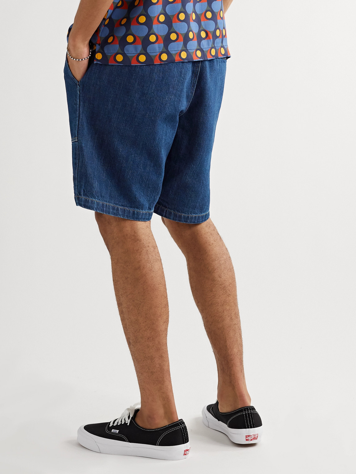 SATURDAYS SURF NYC Denims QUINN INDIGO-DYED DENIM DRAWSTRING SHORTS