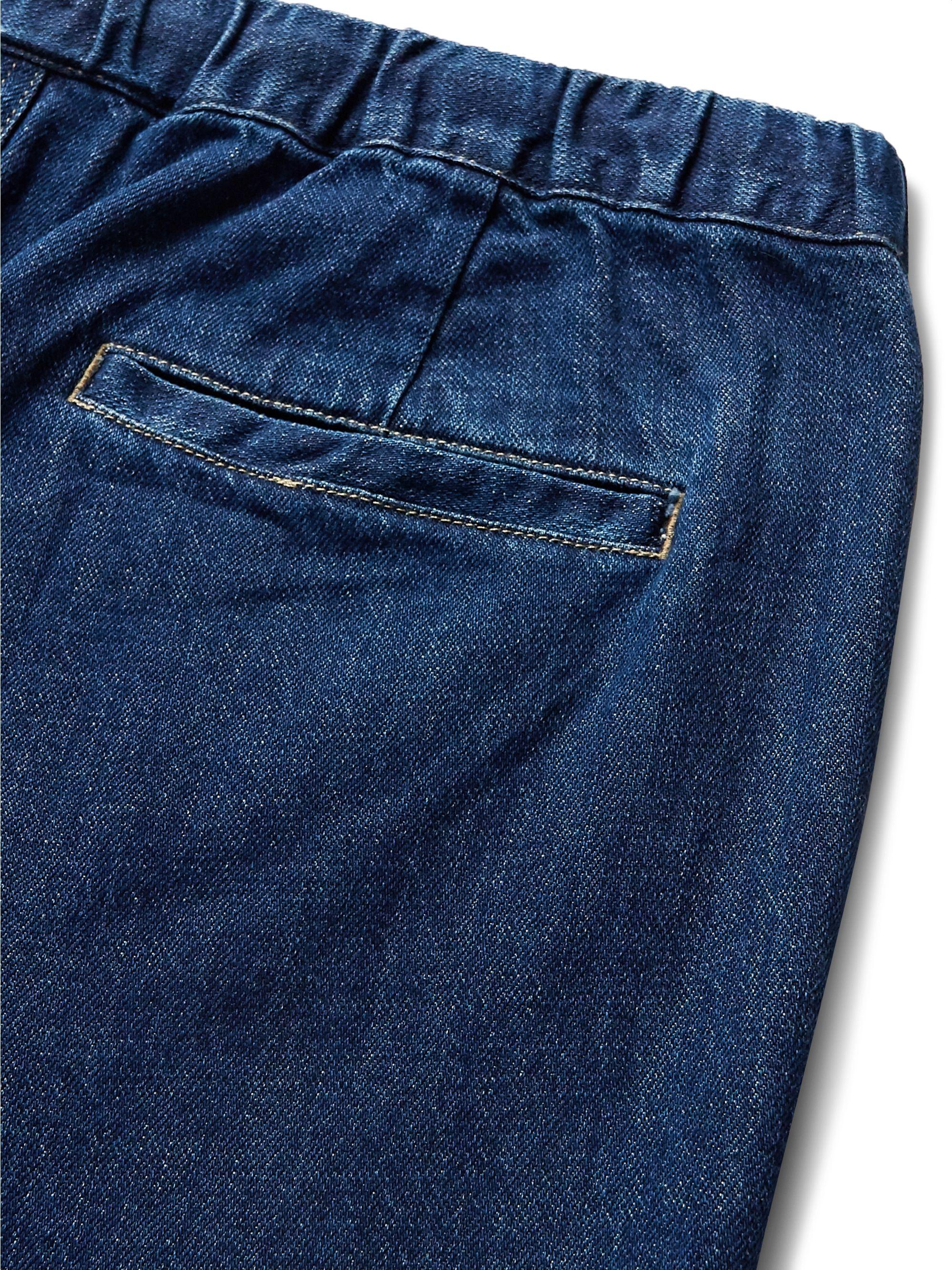 Indigo Quinn Indigo-dyed Denim Drawstring Shorts | Saturdays Nyc