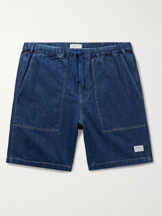Saturdays NYC Quinn Indigo-Dyed Denim Drawstring Shorts