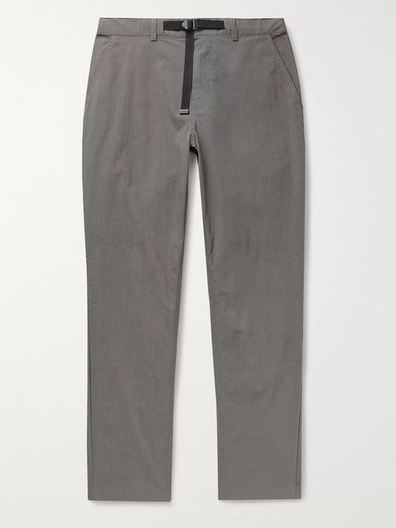 Saturdays NYC Shaw Belted Stretch Cotton and Nylon-Blend Trousers
