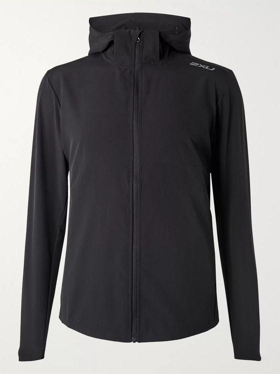 2XU XVENT Mesh-Panelled Stretch-Jersey Hooded Jacket