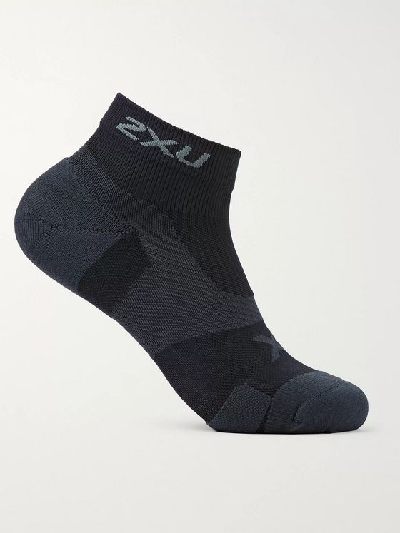 2XU Vectr Cushioned No-Show Stretch-Nylon Socks