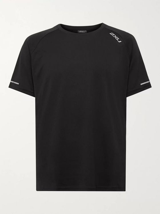 2XU XVENT G2 Logo-Print Stretch-Jersey and Mesh T-Shirt