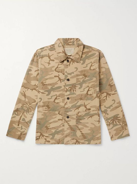 RRL Harrison Camouflage-Print Cotton-Ripstop Jacket
