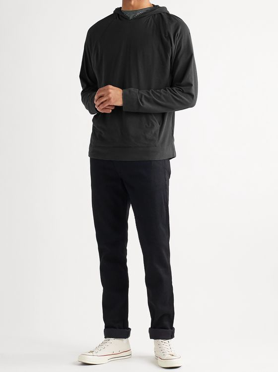 JAMES PERSE Brushed Cotton-Blend Jersey Hoodie