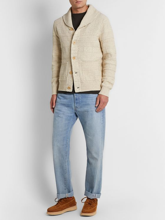 RRL Slim-Fit Shawl-Collar Cotton and Silk-Blend Cardigan