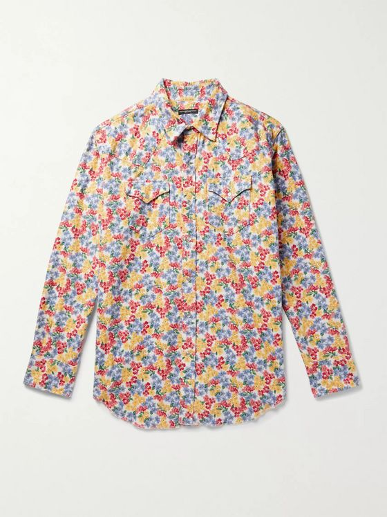 Engineered Garments Printed Cotton-Flannel Western Shirt