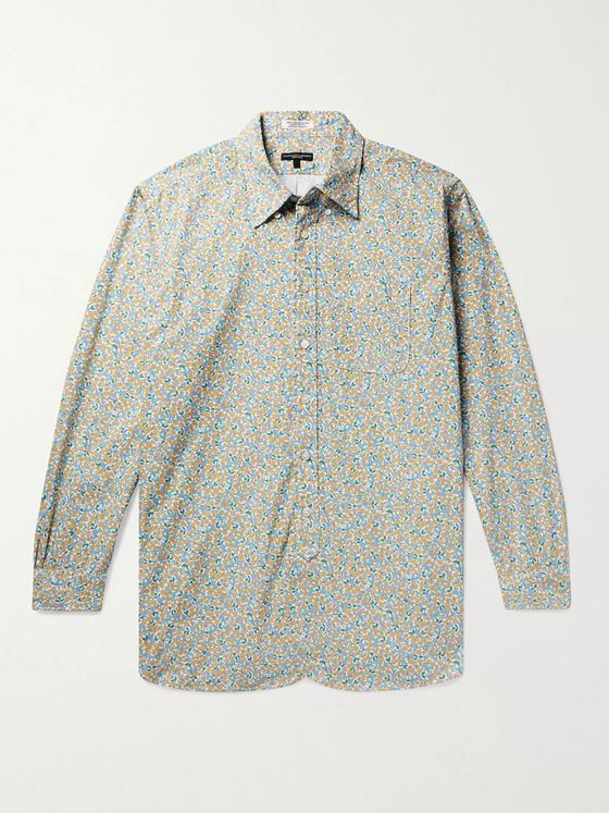 Engineered Garments 19th Century Button-Down Collar Floral-Print Cotton-Poplin Shirt