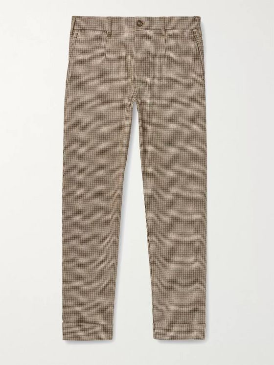 Engineered Garments Andover Tapered Houndstooth Woven Trousers