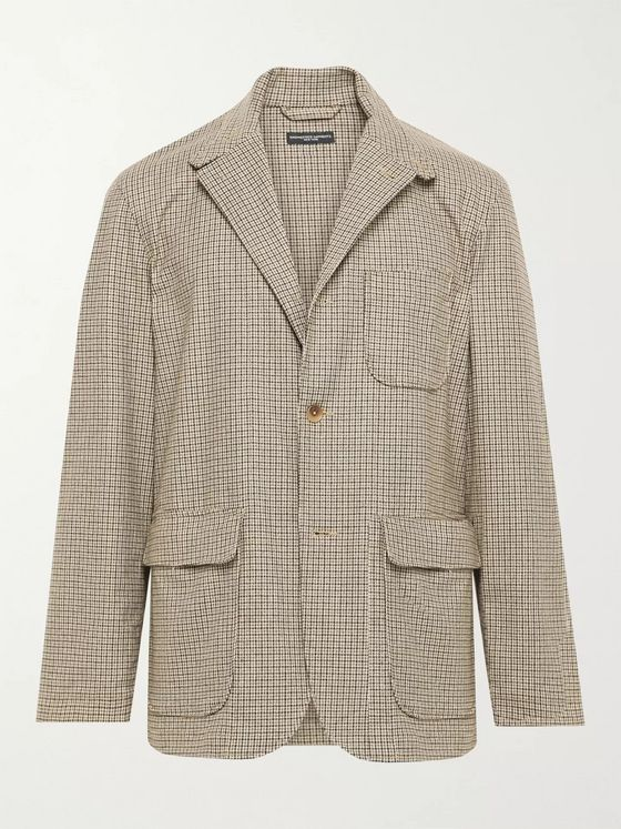 Engineered Garments Loiter Checked Woven Blazer