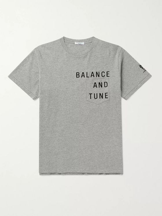 Engineered Garments Printed Mélange Cotton-Blend Jersey T-Shirt