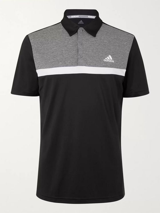 Adidas Golf Novelty Colour-Block Jersey Golf Polo Shirt