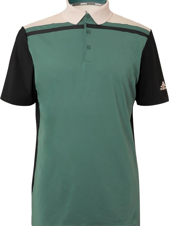 Adidas Golf Ultimate365 Colour-Block Stretch-Jersey Golf Polo Shirt
