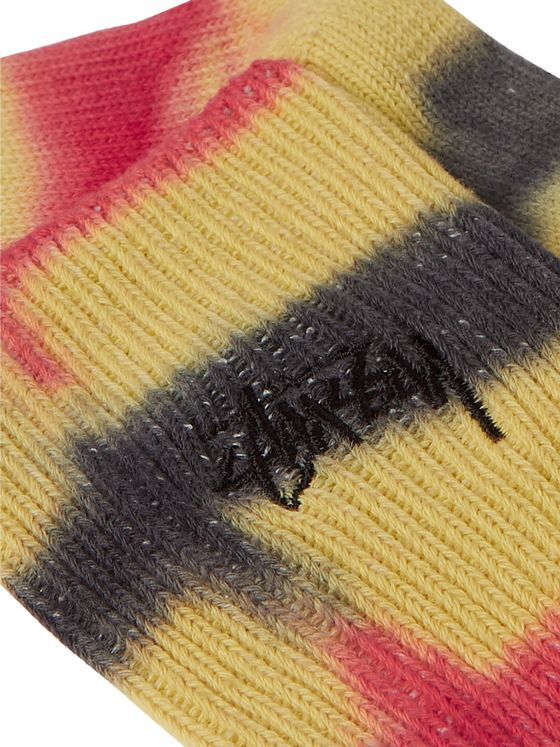 Stüssy Tie-Dyed Ribbed Cotton-Blend Socks