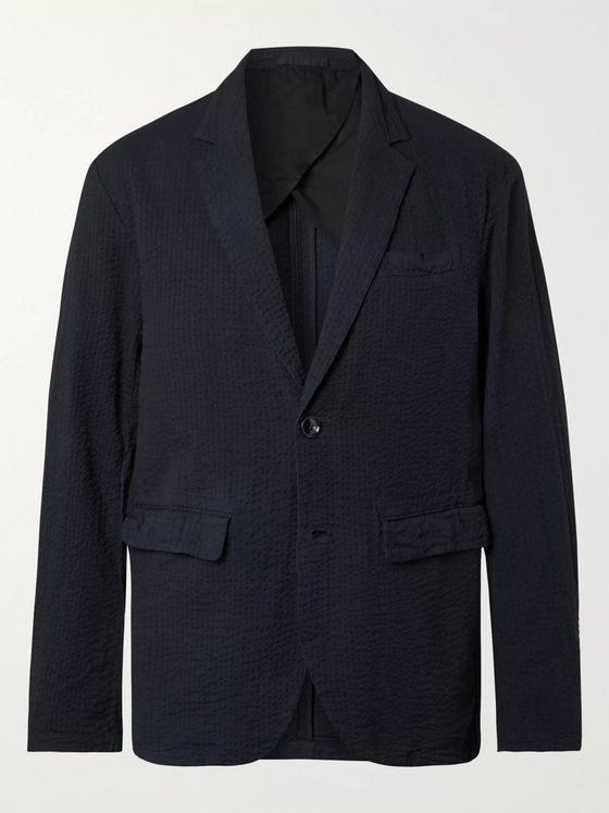 Stüssy Unstructured Cotton-Seersucker Blazer