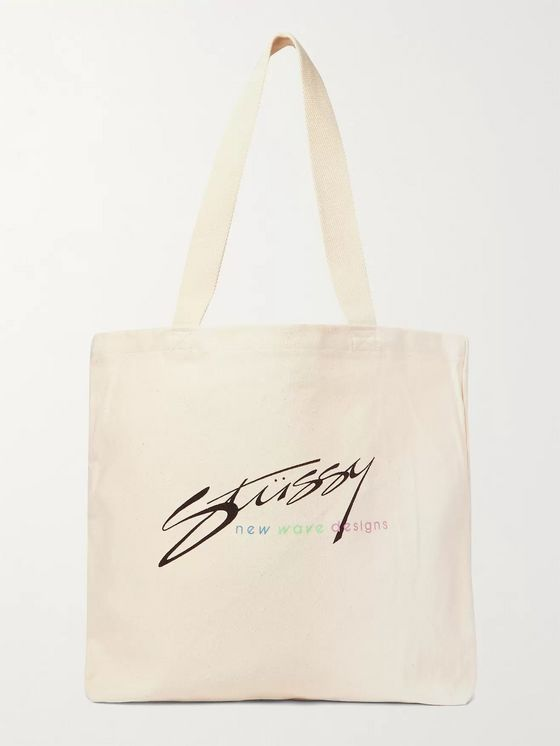 Stüssy Logo-Print Cotton-Canvas Tote Bag