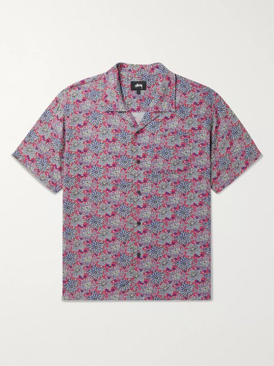Stüssy Camp-Collar Floral-Print Woven Shirt