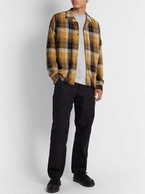 Stüssy Camp-Collar Checked Flannel Shirt