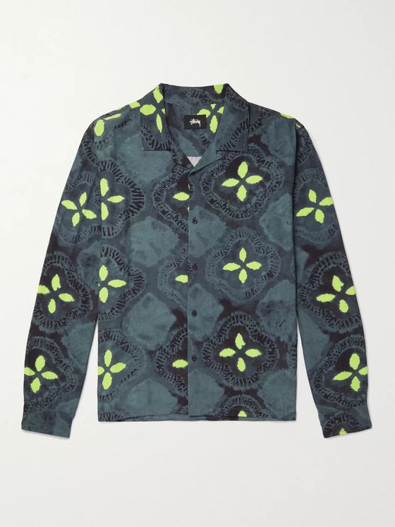 Stüssy Sonoma Camp-Collar Printed Crepe Shirt