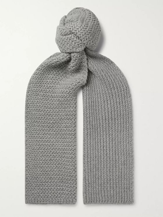 MR P. Ribbed Cashmere Scarf