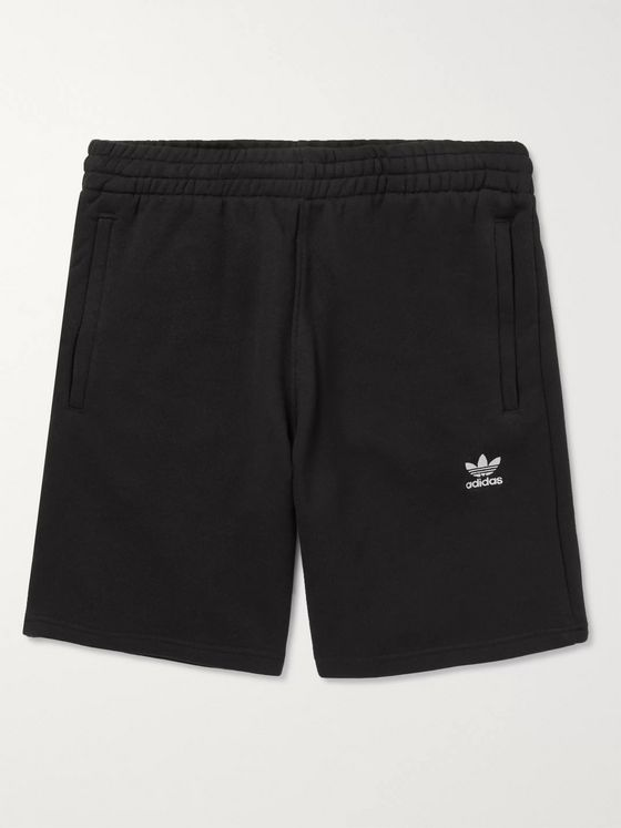 ADIDAS ORIGINALS Essential Logo-Embroidered Cotton-Jersey Shorts