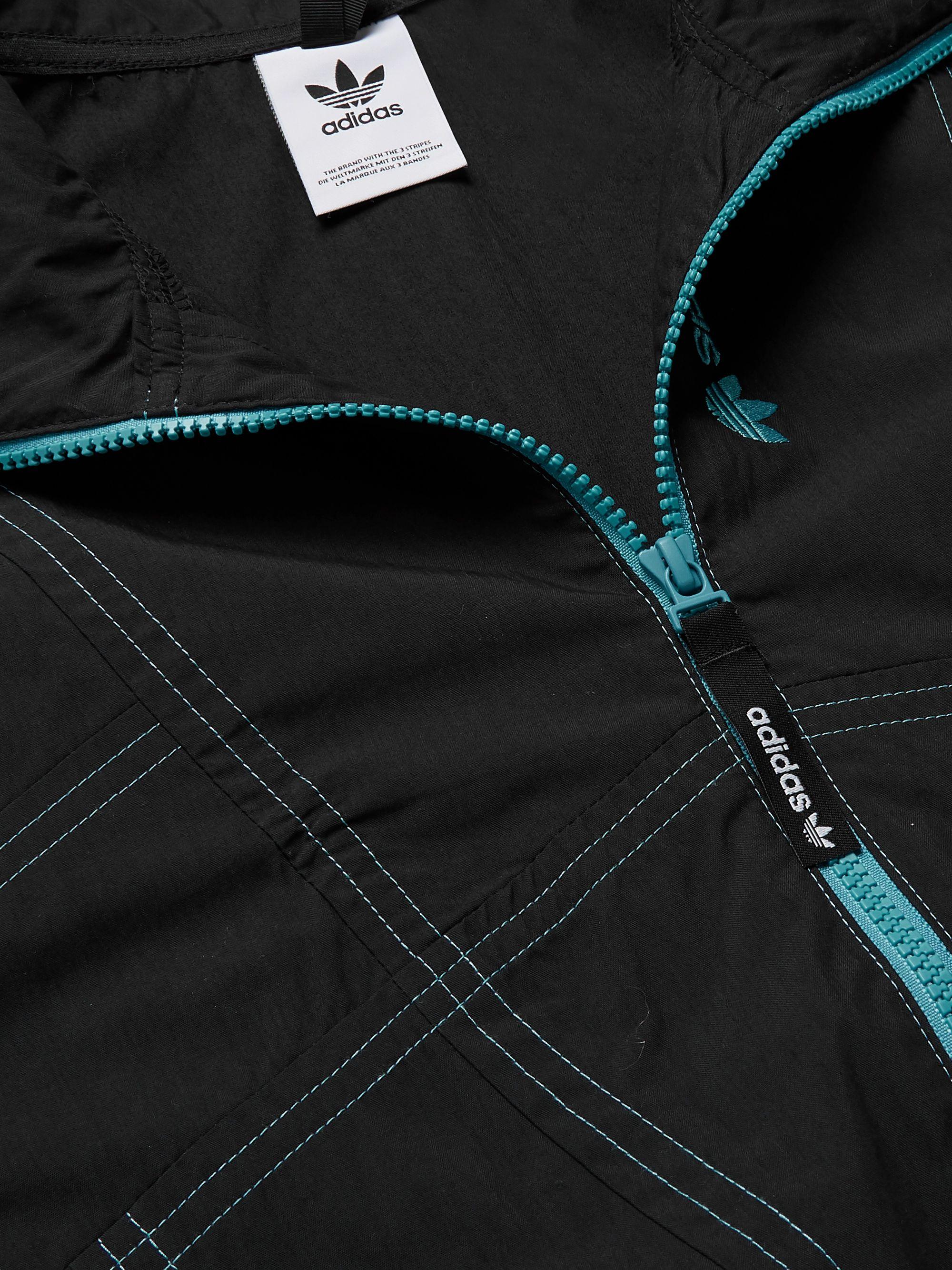 Black Adventure Cotton-blend Track Jacket   Adidas Originals