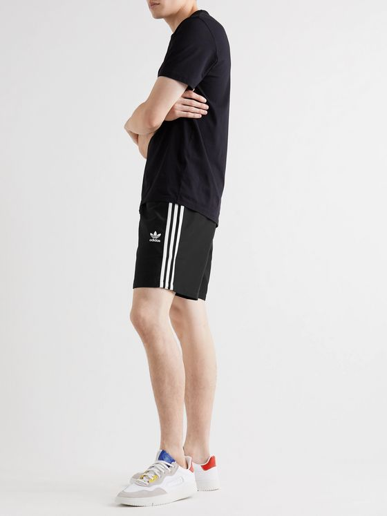 ADIDAS ORIGINALS Mid-Length Striped Swim Shorts