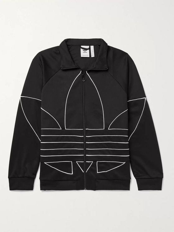 adidas Originals Logo-Detailed Satin-Jersey Track Jacket