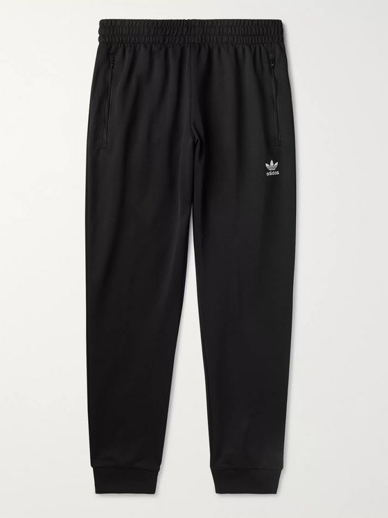 adidas Originals Slim-Fit Logo-Embroidered Tech-Jersey Track Pants