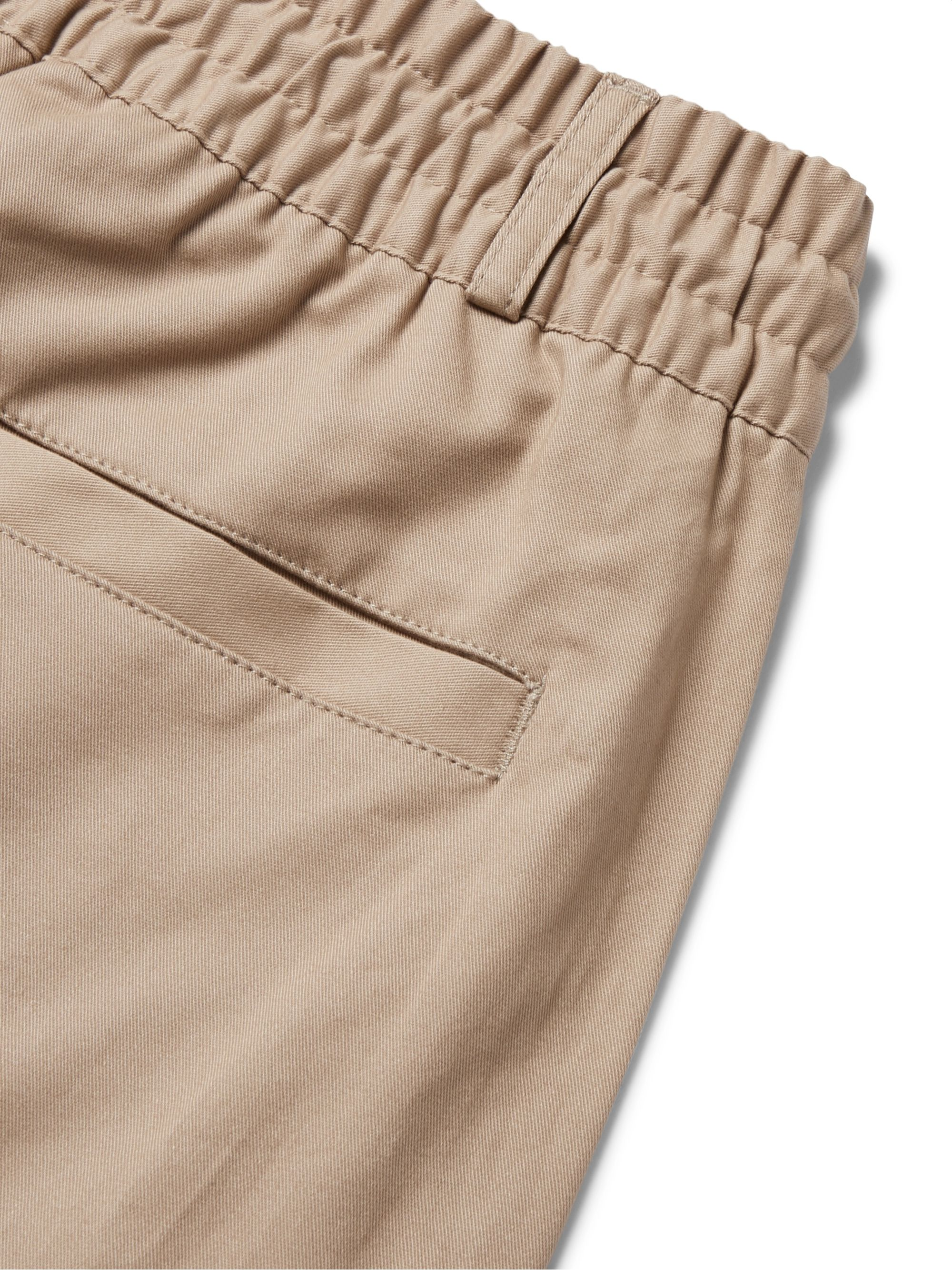 Beige Adiplore Appliquéd Cotton-twill Drawstring Cargo Shorts | Adidas Originals