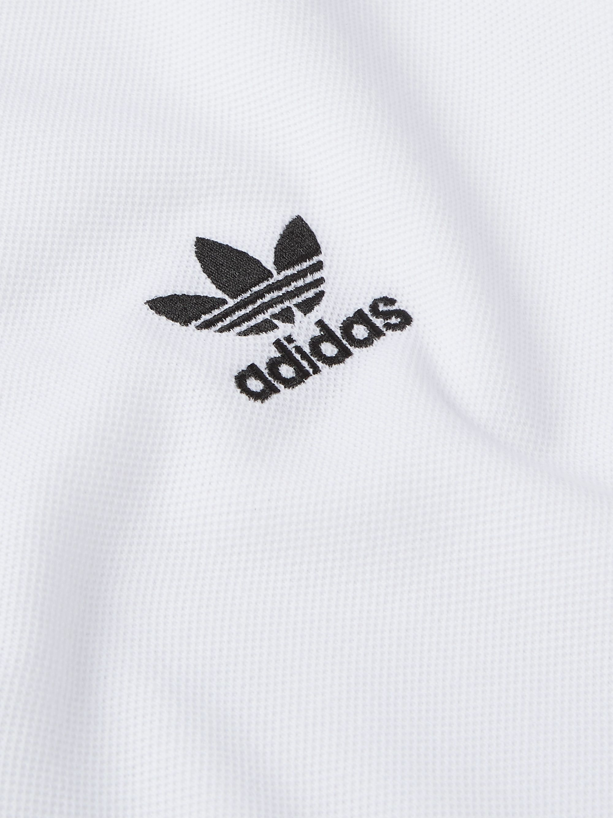 adidas Originals Logo-Embroidered Cotton-Piqué Polo Shirt