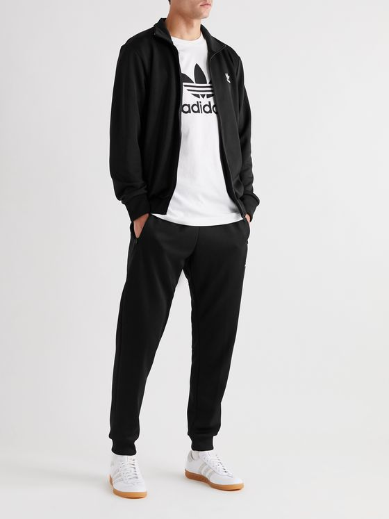 adidas Originals Logo-Embroidered Tech-Jersey Track Jacket