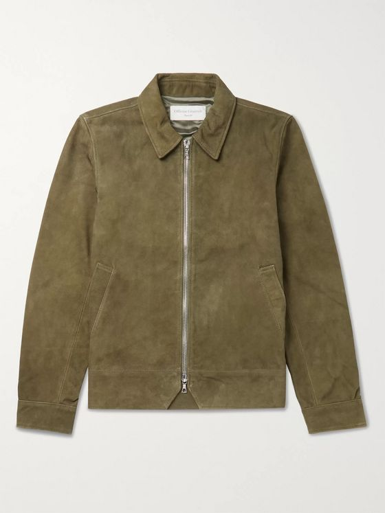 OFFICINE GÉNÉRALE Rod Slim-Fit Suede Blouson Jacket