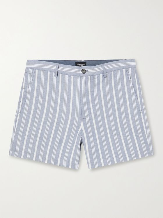 CLUB MONACO Jax Striped Linen Shorts