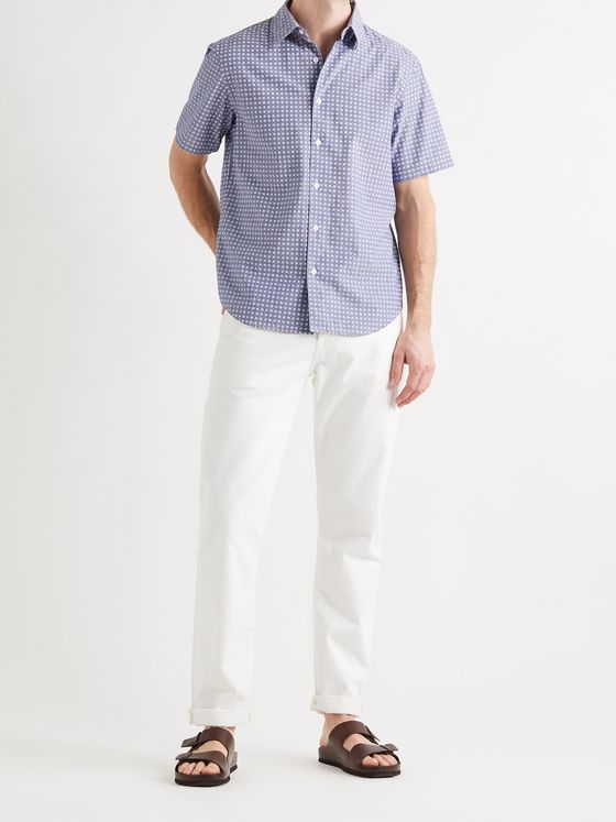 CLUB MONACO Slim-Fit Cotton-Chambray Jacquard Shirt
