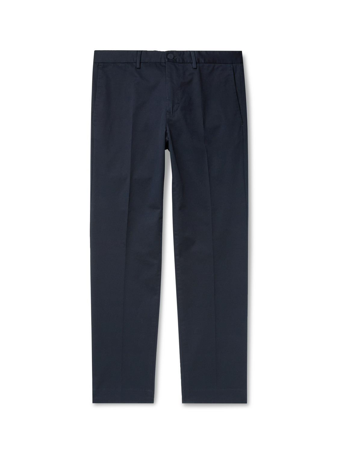 incotex - slim-fit stretch-cotton twill trousers - men - blue - it 56