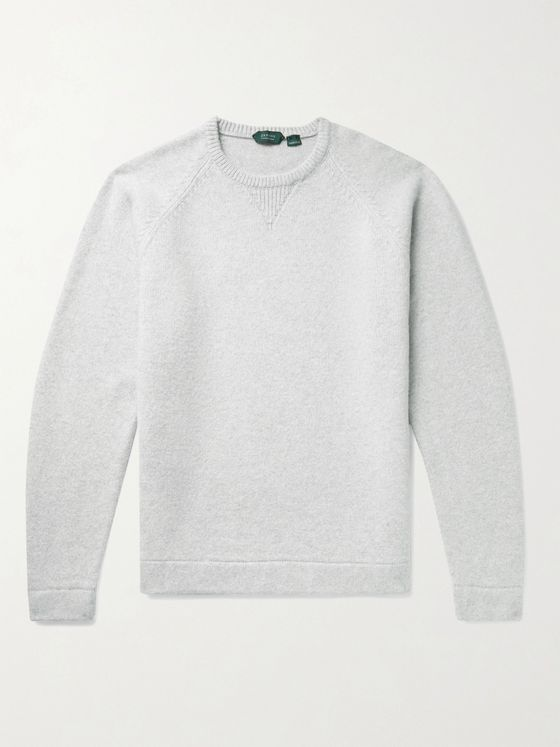 Incotex Brushed Wool and Cashmere-Blend Sweater