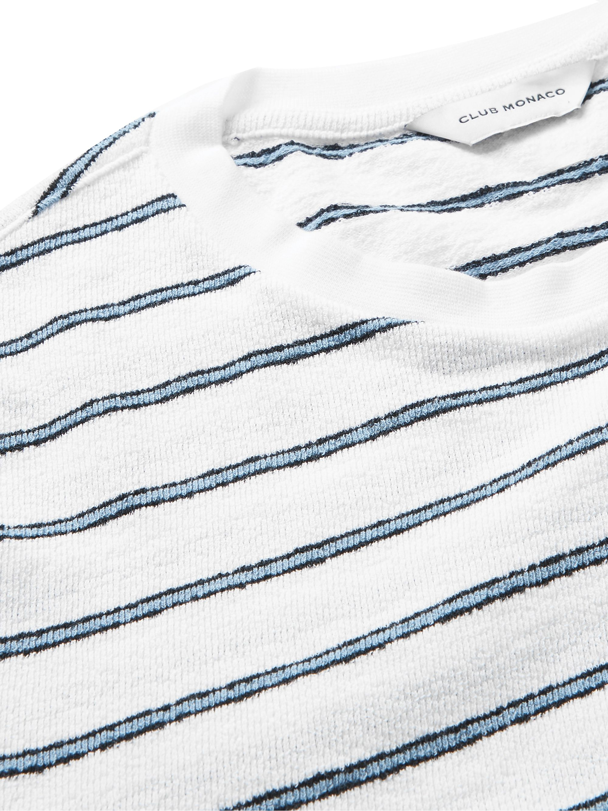 Club Monaco Striped Cotton-Terry T-Shirt