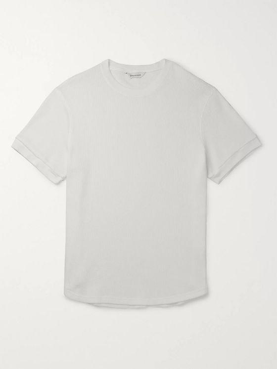 Club Monaco Waffle-Knit Cotton T-Shirt
