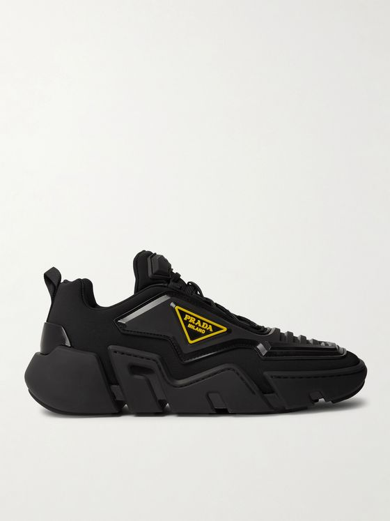 Prada Segment Neoprene and Rubber Sneakers