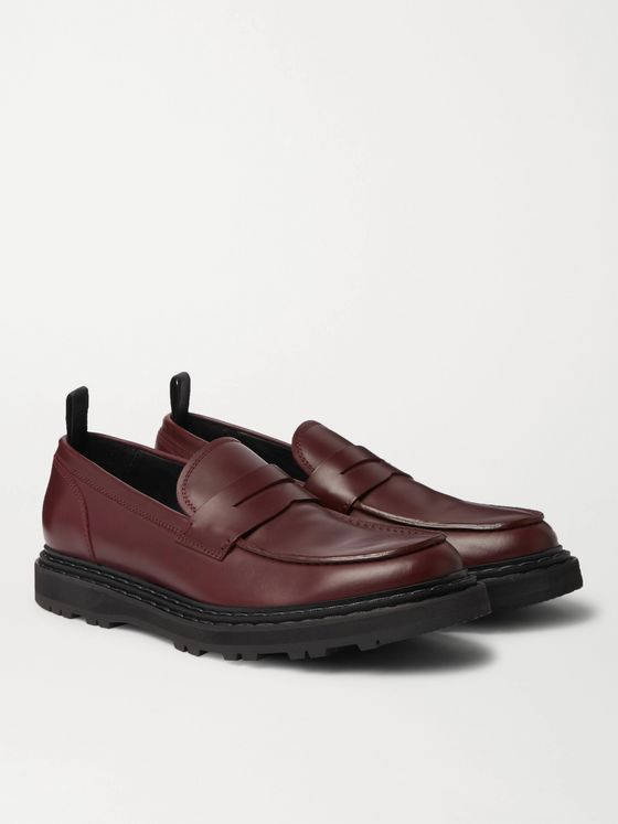 OFFICINE CREATIVE Lydon Polished-Leather Penny Loafers