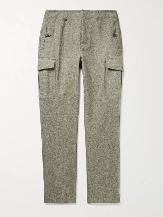Aimé Leon Dore Slim-Fit Mélange Wool Cargo Trousers
