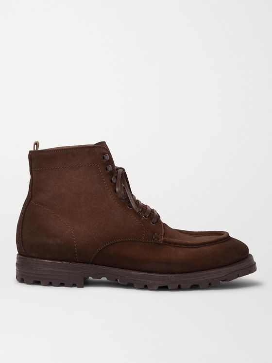 Officine Creative Vail Suede Lace-Up Boots