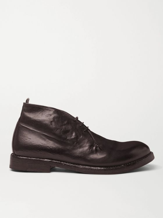 Officine Creative Character Leather Desert Boots