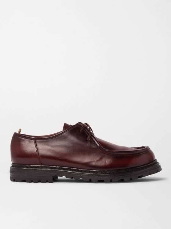 Officine Creative Burnished-Leather Derby Shoes