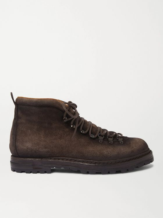 Officine Creative Artik Shearling-Lined Burnished-Suede Boots