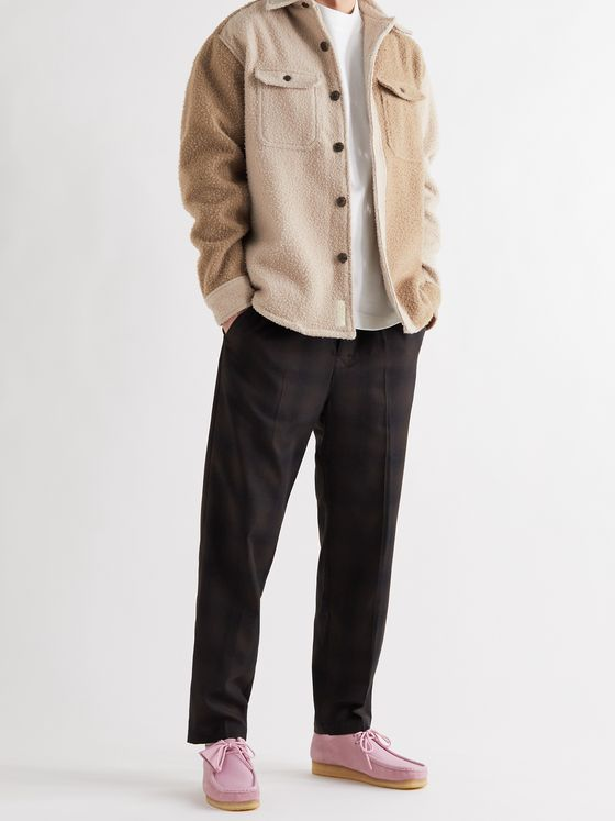 Aimé Leon Dore Colour-Block Boiled Wool Overshirt