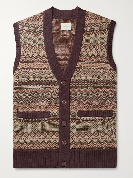 Aimé Leon Dore Fair Isle Wool-Blend Jacquard Sweater Vest