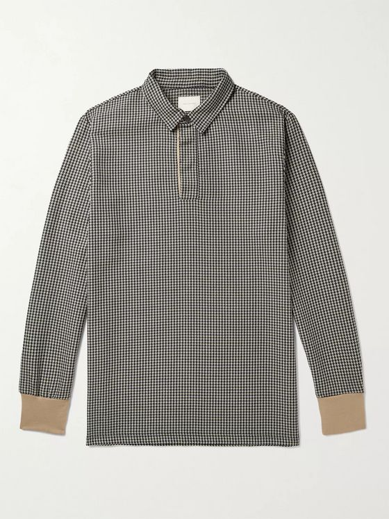 Aimé Leon Dore Puppytooth Cotton-Jacquard Polo Shirt